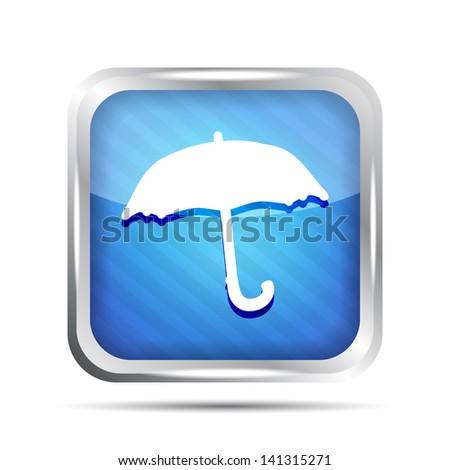 Blue striped forecast icon on a white background - stock photo