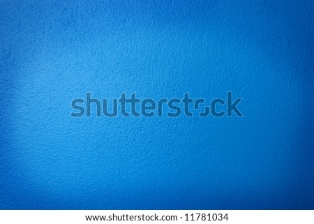 Blue Stucco Wall for Background Texture - stock photo