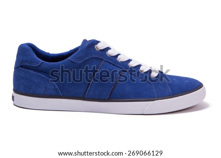 blue suede shoes - stock photo