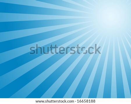 Blue sun background - stock photo