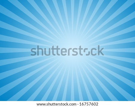 Blue Sun Rays Background - stock photo