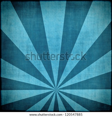 Blue sunbeams abstract background - stock photo