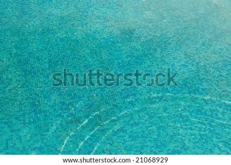 Blue sunny water surface.