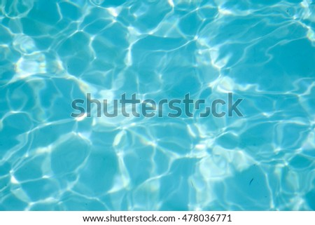 Blue swimming pool rippled water detail background