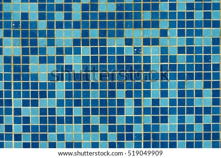 blue swimming pool tile background