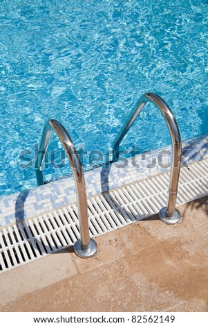 Blue Swimmingpool water - stock photo