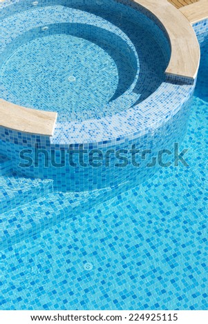 blue swimpool - stock photo