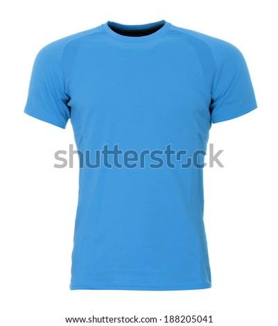 Blue T-shirt - stock photo
