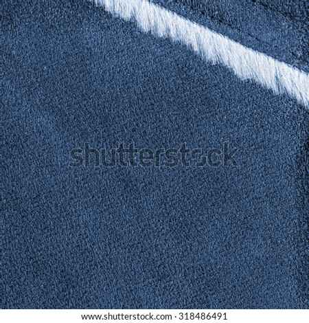 blue tanned leather texture closeup  decorated with fur