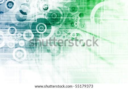 Blue Techno Urban Grunge as Modern Background - stock photo