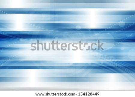 Blue Technology Abstract Background - stock photo