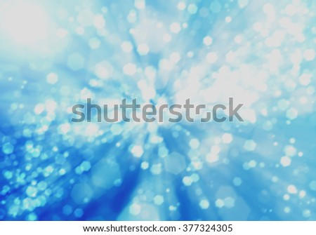 blue technology background, Bokeh on blue blurred background