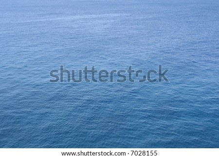 Blue texture background of the ocean. - stock photo