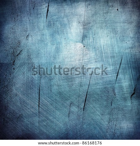 blue texture grunge background - stock photo