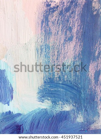 Blue texture on canvas
