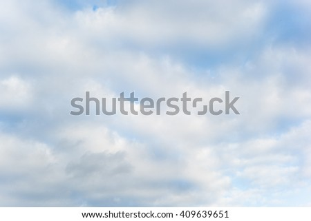 Blue texture white cloudy sky background