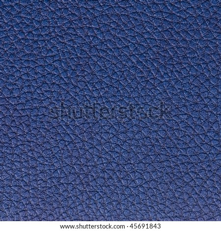 Blue textured leather surface - stock photo