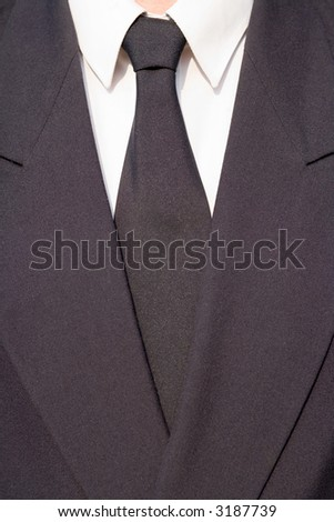 blue tie and blue suit - stock photo