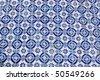 Blue tile - stock photo