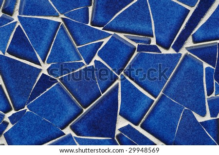 Blue Tile Mosaic, Close-up