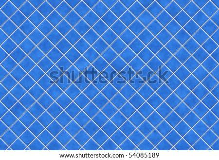Blue tiles texture background, kitchen or bathroom concept - stock photo