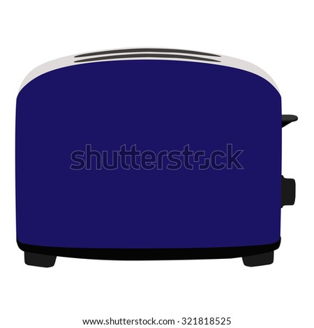 Blue toaster, toaster icon, toaster isolated, toaster raster - stock photo
