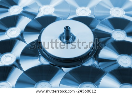 Blue toned CD background