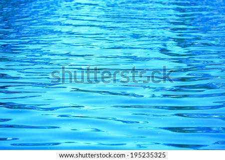 Blue Tones Water Waves Surface as Background. - stock photo
