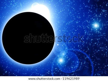 Blue total eclipse