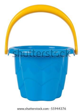 Blue toy bucket - stock photo