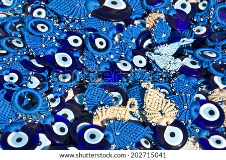 Blue traditional Turkish Amulet Evil Eyes