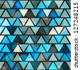 blue triangle grunge seamless pattern (raster version) - stock photo