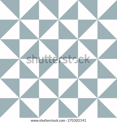 Blue Triangle Texture - seamless - stock photo