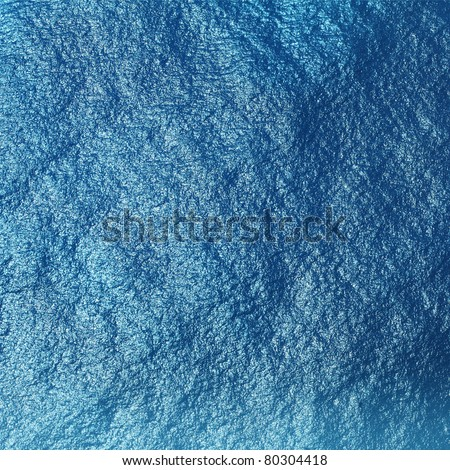 Blue tropical sea surface with waves and ripples. View from plane (approx 500m) - stock photo
