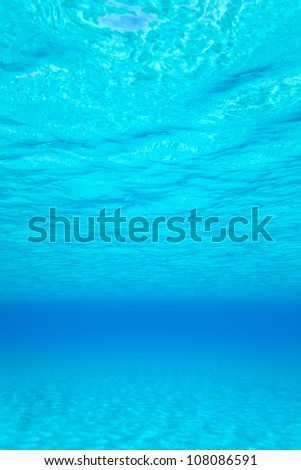 blue turquoise underwater wavy background - stock photo