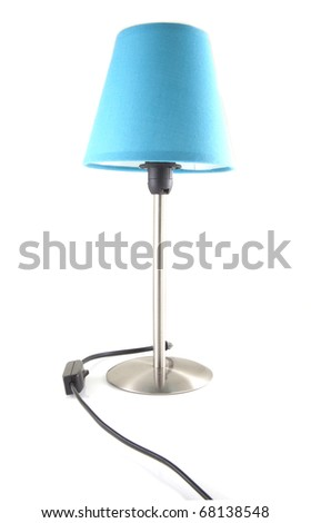 Blue twilight lamp on a white background. - stock photo