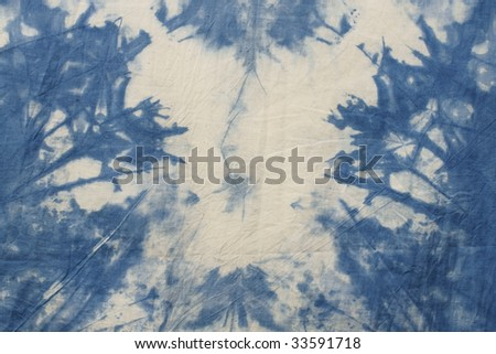 blue tye dyed cotton