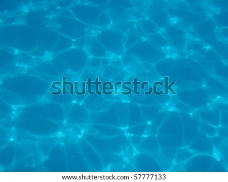 blue underwater background with water air bubbles - stock photo