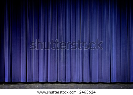 Blue velvet theater curtain
