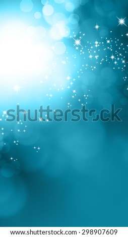 Blue vertical banner background with blurred lights - stock photo