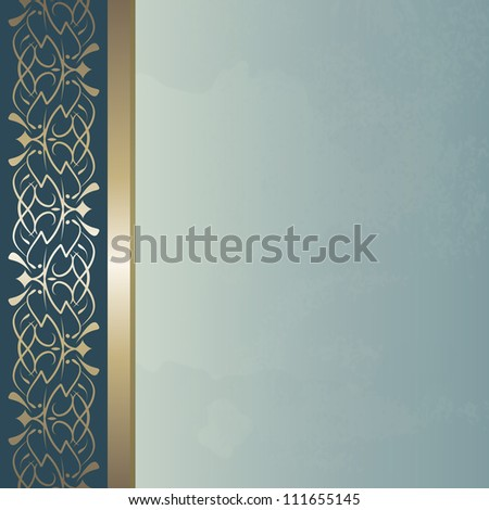 blue vintage background (raster version of the vector) - stock photo