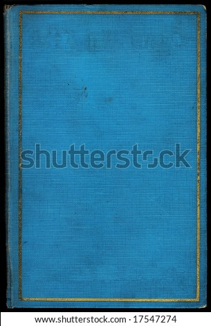 Blue vintage book with gold trim. Copyspace for adding your own text. - stock photo
