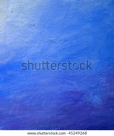 Blue wall abstract - stock photo