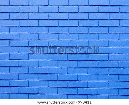 Blue wall detail - stock photo