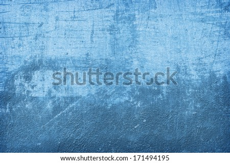 Blue wall texture, background - stock photo