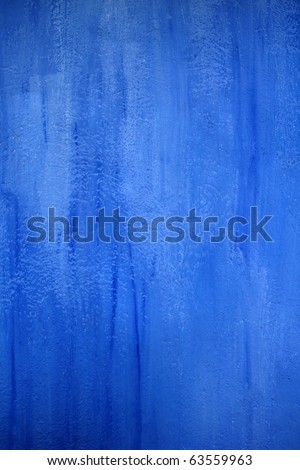 blue wall texture grunge background in Mediterranean house - stock photo