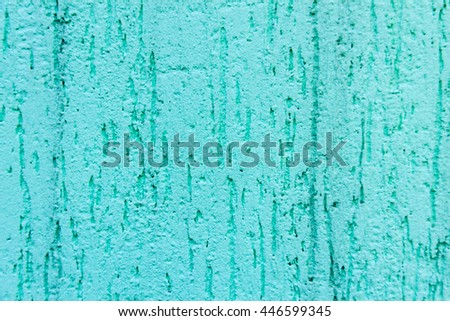 blue wall with decorative plaster as a background - stock photo