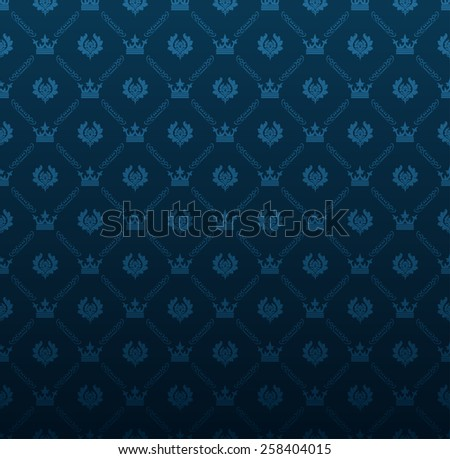 blue wallpaper in old style for your design - stock photo