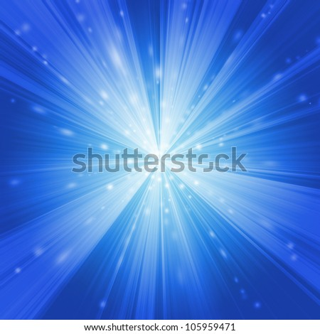 Blue Warp - stock photo