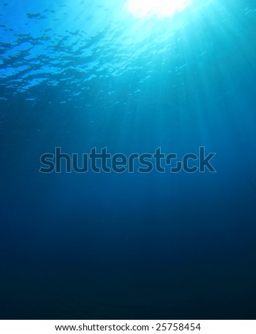 Blue Water Background in the Open Ocean - stock photo